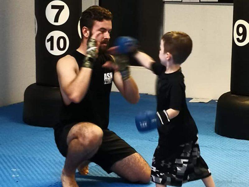 Kids Kickboxing training in Helensvale